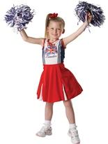 Costume patriotique de pom-pom girl enfant Déguisement Filles