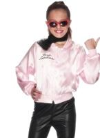 Pink Lady Jacket de graisse pour enfants Déguisement Filles