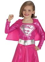 Costume de Supergirl rose enfant Déguisement Filles
