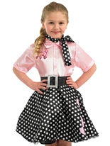 Costume de robe Rock ' n Roll pour enfants Déguisement Filles