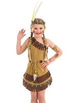 Costume pour enfants fille indienne Déguisement Filles