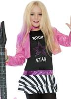 Costume de Rockstar mini Glam Déguisement Filles