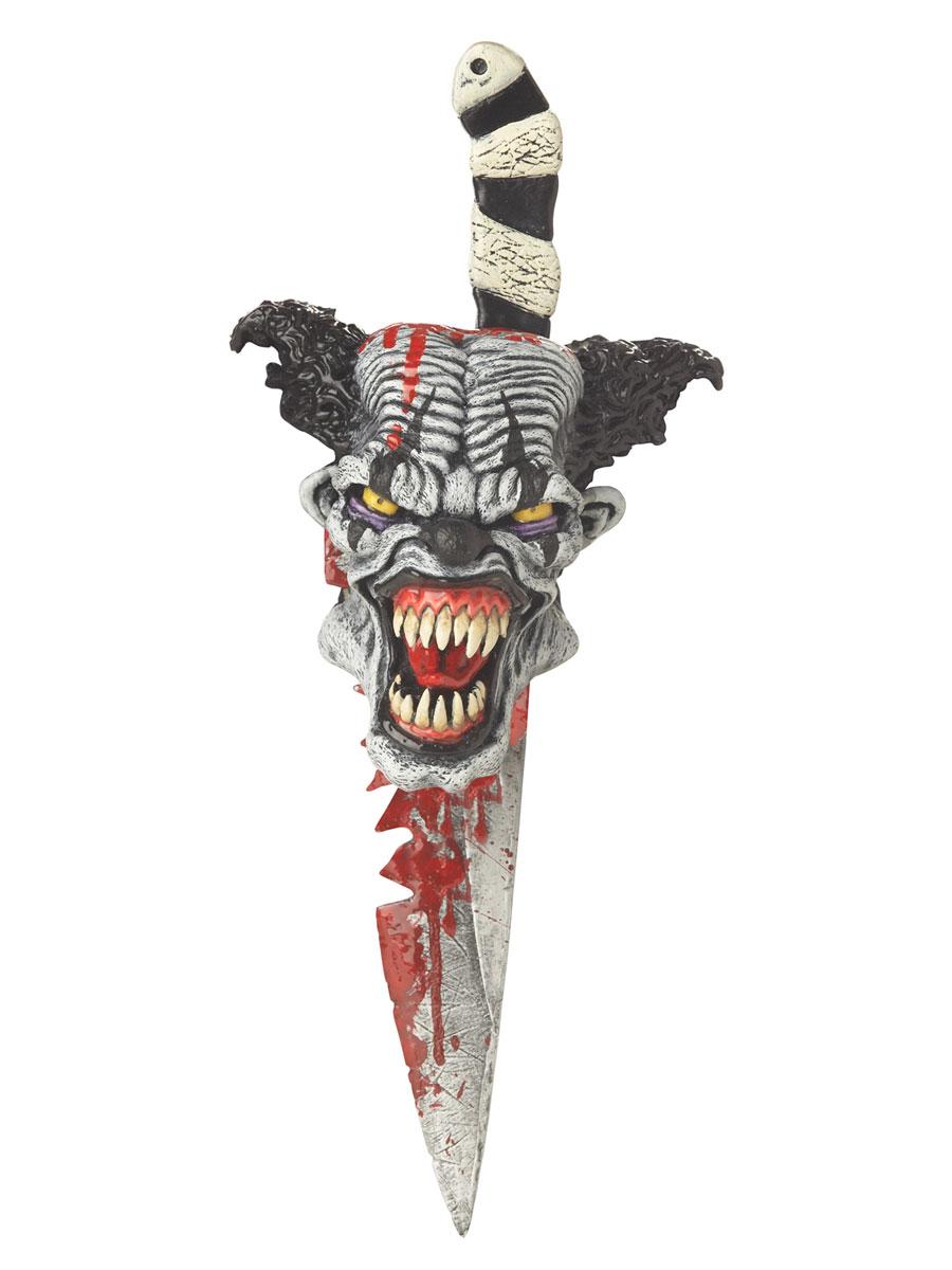 Accessoire Halloween Couteau sanglant avec gaine Psycho
