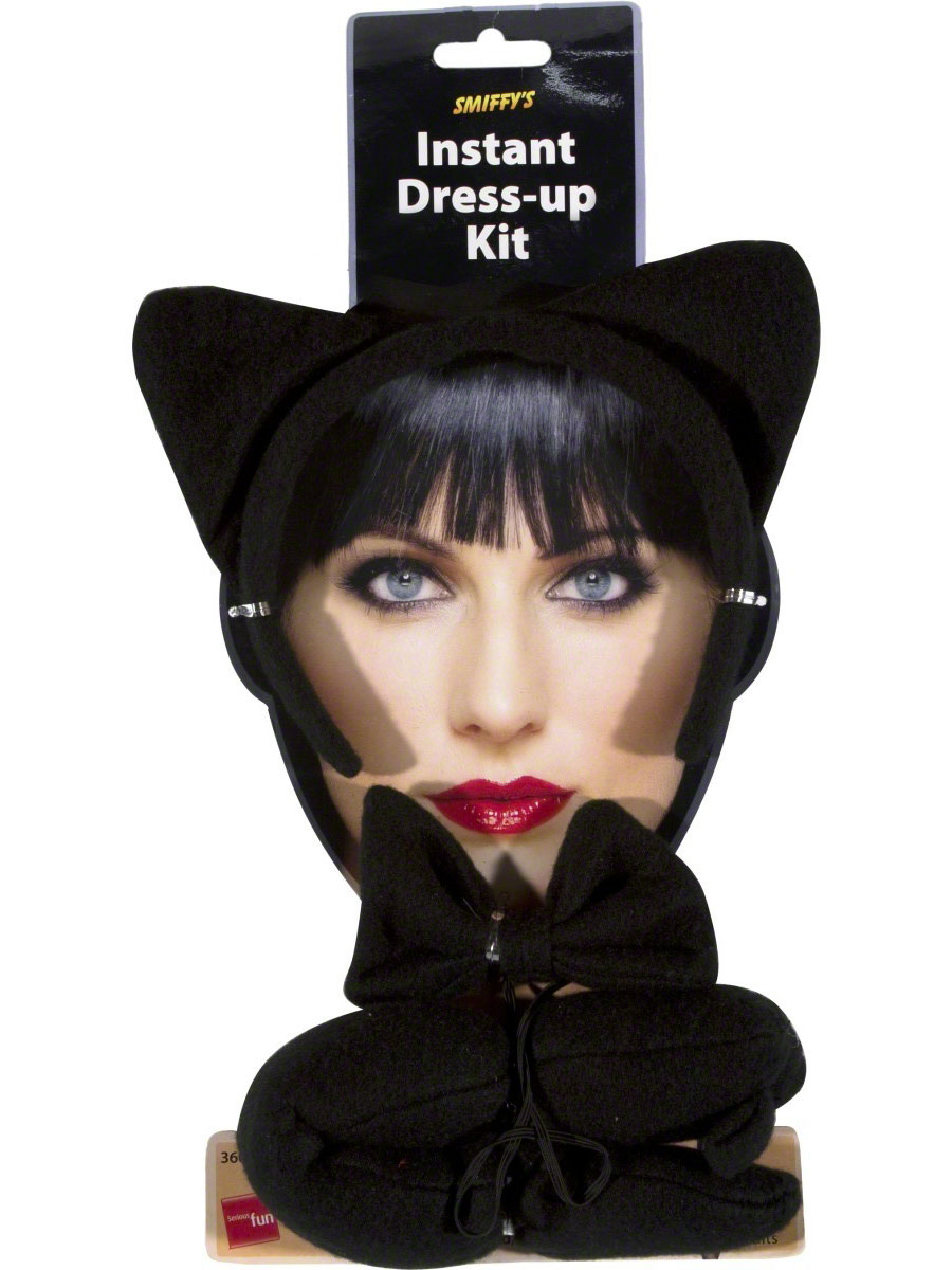 chat instantan set black accessoire halloween costume halloween 04 05 2019. Black Bedroom Furniture Sets. Home Design Ideas