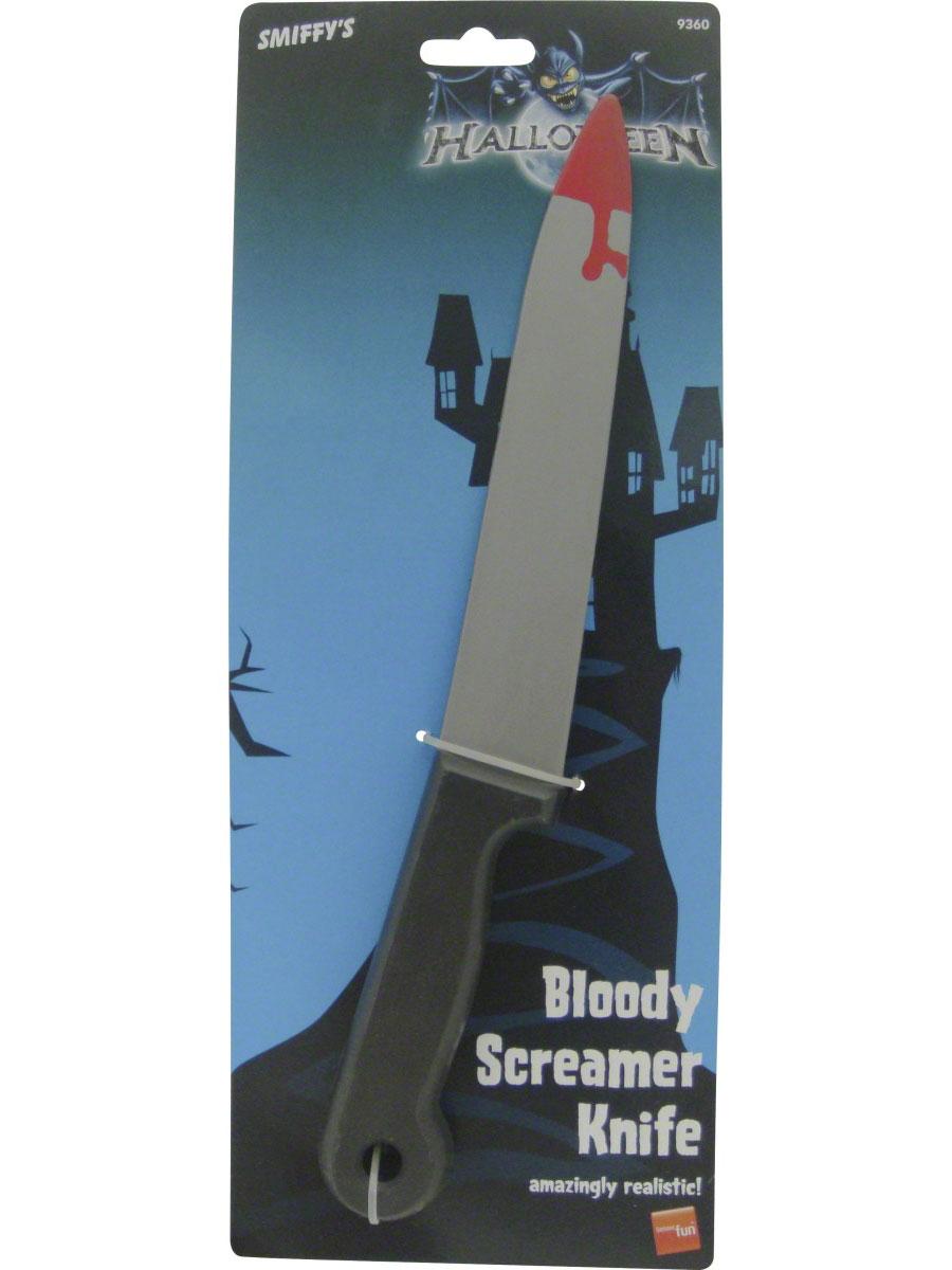 Accessoire Halloween Screamer couteau plastique