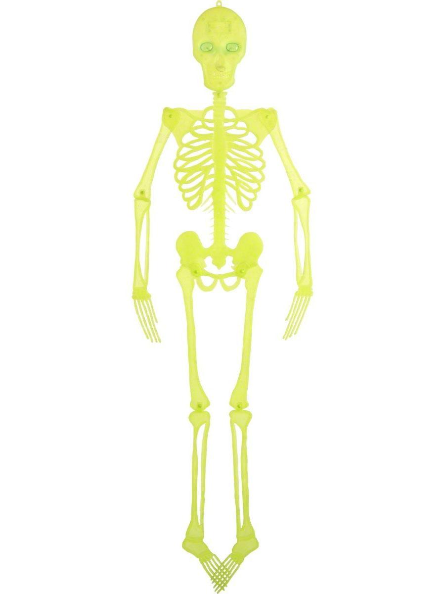Accessoire Halloween Squelette néon suspendus décoration
