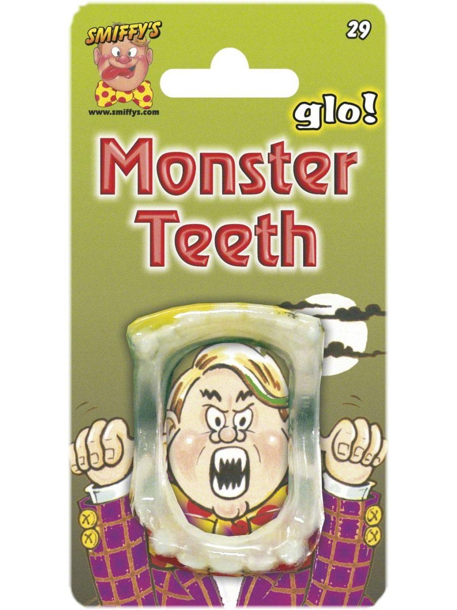 Accessoire Halloween Brillent dans les dents du monstre des ténèbres