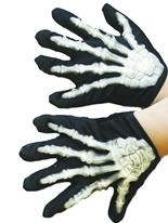 Déclenché gants squelette Bones Accessoire Halloween