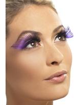 Cils longs violets Accessoire Halloween