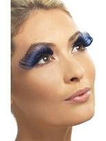 Cils longs bleus Accessoire Halloween