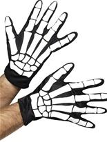 Gants imprimés squelettes Accessoire Halloween
