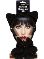 Chat instantané Set Black Accessoire Halloween