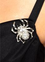 Araignée strass broche broche Accessoire Halloween