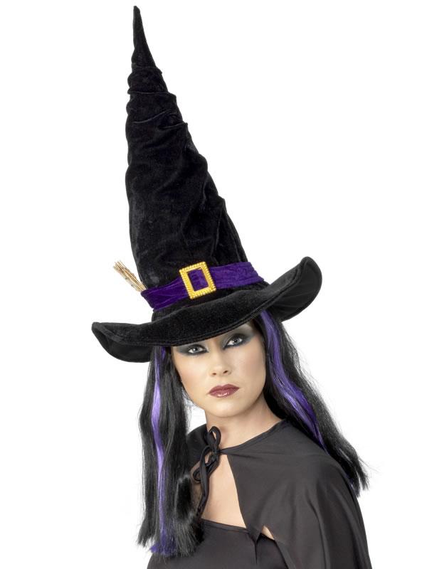 Chapeau de sorcière Twisty Witchs chapeau noir