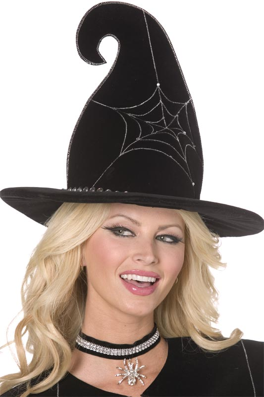 Chapeau de sorcière Spider Web Witch Hat Black