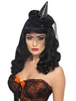 Sorcières Minies noir chapeau paillettes Chapeau de sorcière