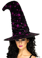 Chapeau de sorcière avec étoiles Chapeau de sorcière