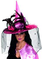 Chapeau de sorcière rose Deluxe Chapeau de sorcière