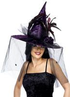 Chapeau de sorcière violet Chapeau de sorcière