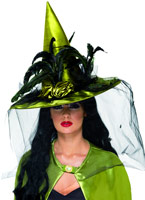 Chapeau de sorcière Chartreuse Deluxe Chapeau de sorcière