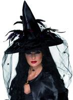 Chapeau de sorcière noir Deluxe Chapeau de sorcière