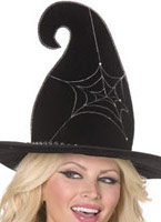 Spider Web Witch Hat Black Chapeau de sorcière