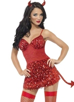 Fièvre Devil Glitter Costume Déguisement diable