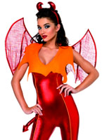 Costume de diable rouge flamme Déguisement diable