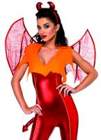 Costume de diable rouge flamme Déguisement diable