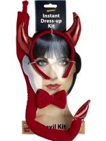 Diable instantanée Set tissu rouge Déguisement diable