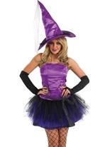 Costume sorcière araignée violet Déguisement de sorcière