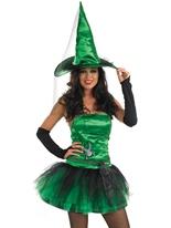 Costume sorcière araignée verte Déguisement de sorcière