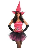 Costume sorcière araignée rose Déguisement de sorcière