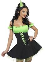 Fièvre méchante sorcière vert et noir Costume Déguisement de sorcière