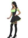 Déguisement de sorcière Fièvre méchante sorcière vert et noir Costume