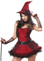 Costume sorcière espiègle Déguisement de sorcière