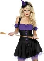 Fièvre méchante sorcière violet et noir Costume Déguisement de sorcière