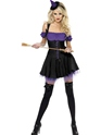 Déguisement de sorcière Fièvre méchante sorcière violet et noir Costume
