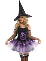 Costume sorcière Tutu pourpre Déguisement de sorcière