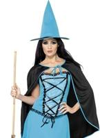 Costume sorcière Sparkle Blue Déguisement de sorcière