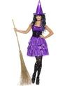 Déguisement de sorcière Costume de sorcière violet néon