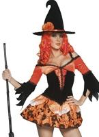 Costume de méchante sorcière jardin contaminé Déguisement de sorcière