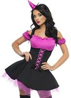 Fièvre méchante sorcière rose et noir Costume Déguisement de sorcière