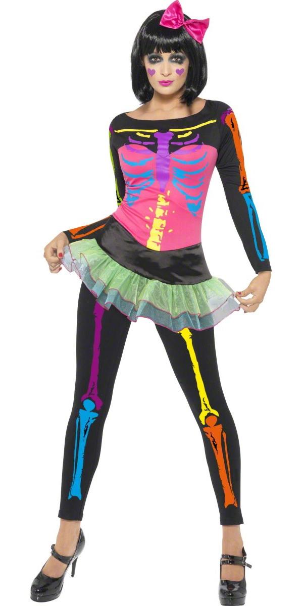 Déguisement Squelette Costume squelette néon