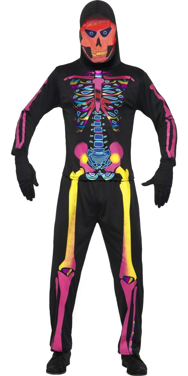 Déguisement Squelette Costume squelette Bones néon