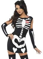 Fièvre Sexy Costume de squelette Déguisement Squelette