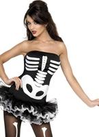 Costume squelette de fièvre Déguisement Squelette