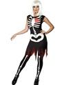 Déguisement Squelette OS vif éclat dans le Costume sombre