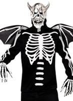 Manoir gothique Demon OS Costume Déguisement Squelette
