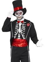 Jour de la mort Costume Déguisement Squelette